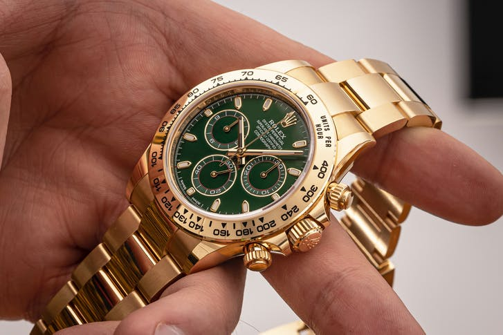 2020 ROLEX DAYTONA YELLOW GOLD WITH GREEN DIAL main image